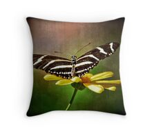 Heliconius Charitonius Throw Pillow