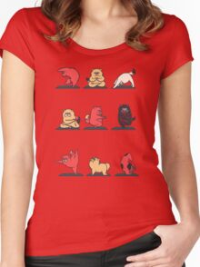 Cat Yoga Women's Fitted Scoop T-Shirt