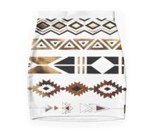 Tribal Aztec Gold and Black Design Pencil Skirt
