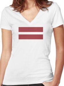 Latvia - Standard Women's Fitted V-Neck T-Shirt