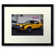 Mellow Yellow Javelin Framed Print