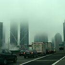 Toronto........ in a fog............. by Larry Llewellyn