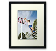 Baller boy Framed Print