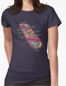 Hover Board Anatomy Womens Fitted T-Shirt
