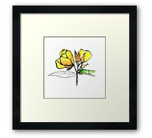 stylise quick watercolor sketch of Oenothera Framed Print