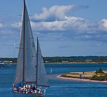 Rounding Chappaquiddick Point by phil decocco
