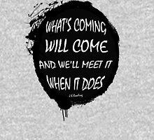 What's Coming Will Come splatter design Mens V-Neck T-Shirt