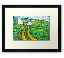 The Dirt Road-Homage to van Gogh. Framed Print