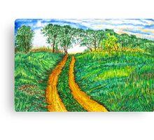 The Dirt Road-Homage to van Gogh. Canvas Print
