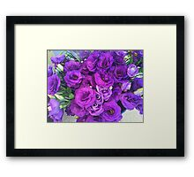 Purple Lisianthus Flowers Framed Print