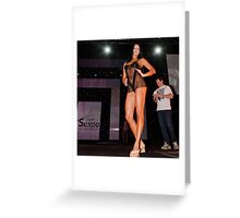 Bombshell in Black Greeting Card