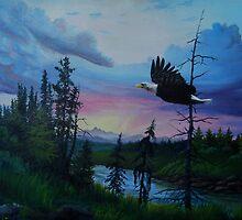 The evening flight by Sonja Scheppy