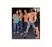 Male Strippers & Crowd Art Print