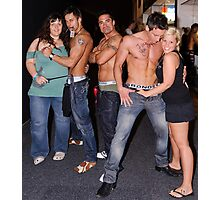 Male Strippers & Crowd Photographic Print