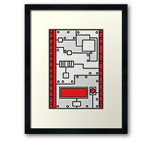 Metal Lab - Ghost Gear Red - Danny Phantom Framed Print
