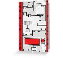 Metal Lab - Ghost Gear Red - Danny Phantom Greeting Card