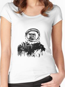Space Chimp II Women's Fitted Scoop T-Shirt