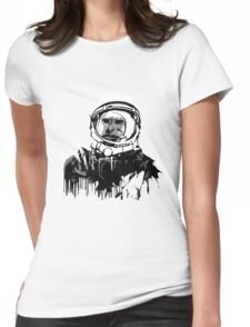 Space Chimp II Womens Fitted T-Shirt