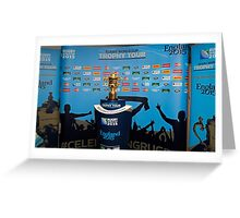 THE RUGBY WORLD CUP Greeting Card