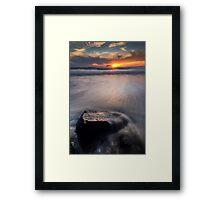 Painful Sunset Framed Print