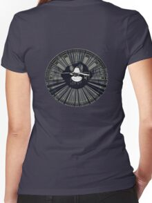listening in - tee Women's Fitted V-Neck T-Shirt