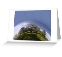 Sphere- Blue sky Greeting Card