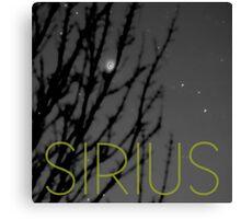 Sirius Canvas Print