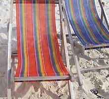 Deck Chairs by Elizabeth  Murray