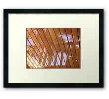 Rain Reflection Framed Print
