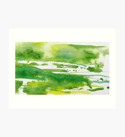 Green Meadows 2 Art Print