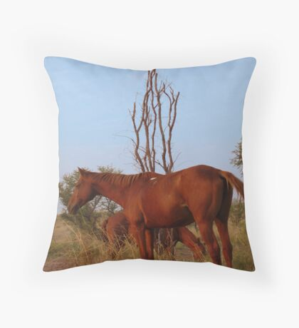 Bush Work Horse Throw Pillow