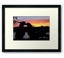 Love Sunset Framed Print