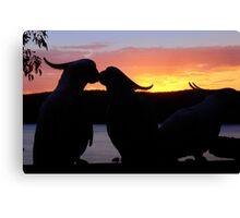 Love Sunset Canvas Print
