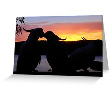 Love Sunset Greeting Card