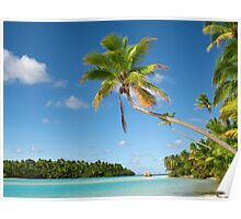 One Foot Island, near Aitutaki, the Cook Islands Poster