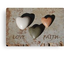 Love and Faith Canvas Print