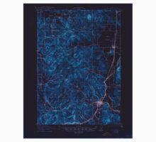 USGS Topo Map Oregon Cottage Grove 282374 1921 62500 Inverted Kids Tee