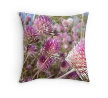 Bachelor Button Throw Pillow