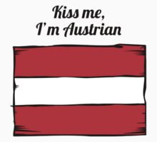 Kiss Me I'm Austrian Kids Clothes