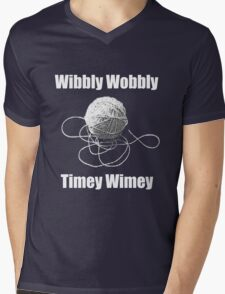 Wibbly Wobbly Timey Wimey  Mens V-Neck T-Shirt