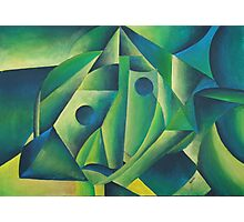 Cubist Abstract Of Village Woman Wearing A Headscarf Photographic Print
