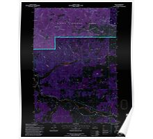 USGS Topo Map Oregon Post 281141 1992 24000 Inverted Poster