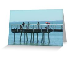On the Jetty  Greeting Card