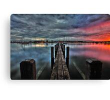 Bunbury Boat Harbour HDR Canvas Print