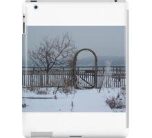 A Community Garden In Winter iPad Case/Skin