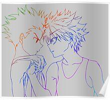 hunter x hunter gon killua anime manga shirt Poster
