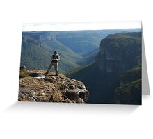 Man on a Mission, Blue Mountains Greeting Card