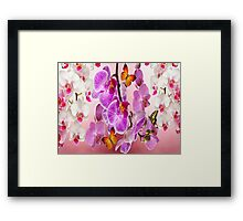 Butterflies And Orchids Framed Print