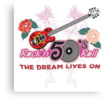 Rock and Roll 50's Music Canvas Print