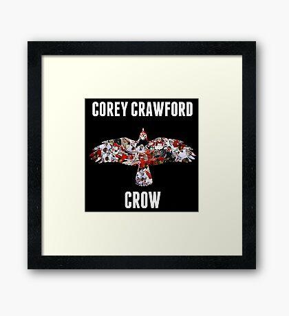 Corey Crawford, Crow Framed Print
